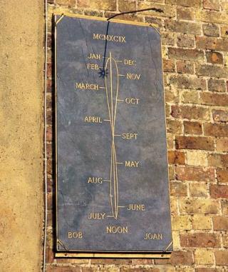 Sundial-analemma