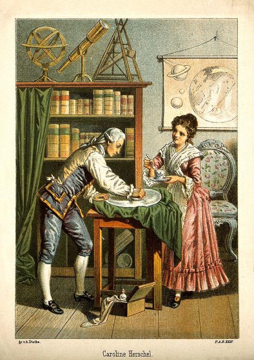 Sir_William_Herschel_and_Caroline_Herschel._Wellcome_V0002731